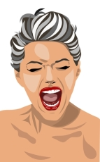 WTF, Woman screaming, illustration, Seriously?