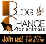 Blog the Change for Animals badge