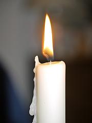 white candle burning