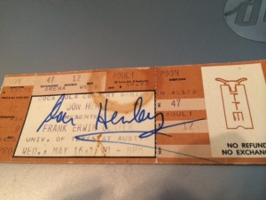Don Henley autograph