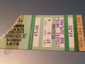 Doobie Brothers-Outlaws concert stub