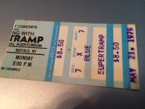 Supertramp Concert ticket stub