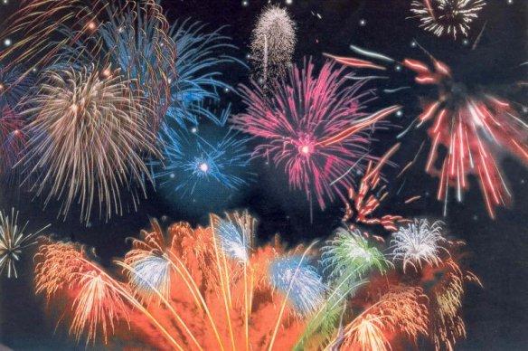 colorful fireworks display