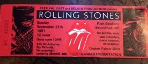 Rolling Stones concert stub-closeup
