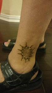 henna tattoo ankle