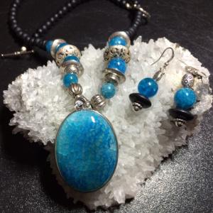 Dragons Vein Agate, Blue Agate & Black Onyx (1)