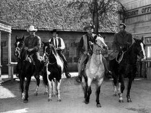 Original cast: Dan Blocker, Michael Landon, Lorne Greene and Pernell Roberts (1959)