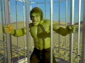 """Lou Ferrigno as the Hulk, from the 1978 episode """"Married"""""""