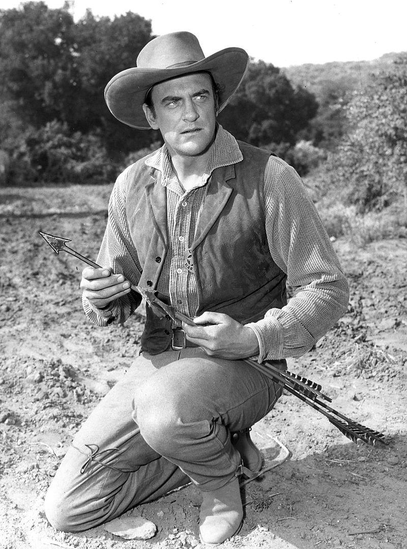 James Arness as Matt Dillon in the television version of Gunsmoke (1956).