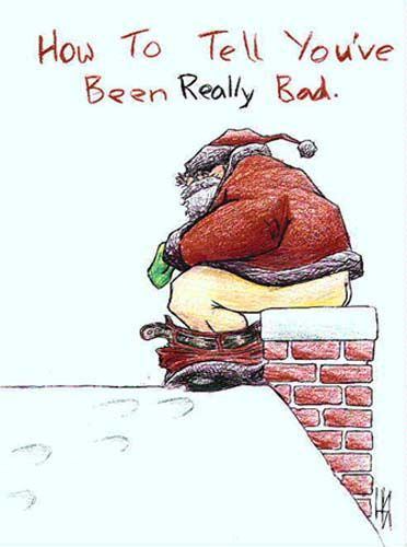 santa-shitting-down-the-chimney