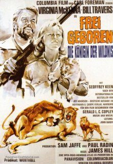 Born Free German movie poster