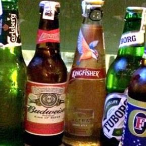 beer bottles array