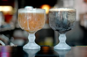 Draft beer in iced schooners were a popular Happy Hour favorite